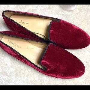 Cole Haan red velvet slippers.  Classy & festive!